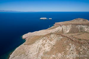 Isla Partida and Los Islotes, Aerial View. Isla Partida, Baja California, Mexico, natural history stock photograph, photo id 32393