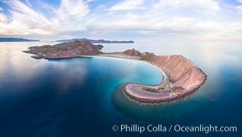 Isla San Francisquito, Aerial Photo, Sea of of Cortez. Isla San Francisquito, Baja California, Mexico, natural history stock photograph, photo id 32414