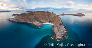 Isla San Francisquito, Aerial Photo, Sea of of Cortez. Isla San Francisquito, Baja California, Mexico, natural history stock photograph, photo id 32415