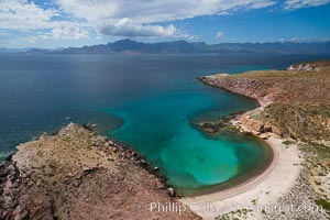Isla San Francisquito, Aerial Photo, Sea of of Cortez. Isla San Francisquito, Baja California, Mexico, natural history stock photograph, photo id 32438
