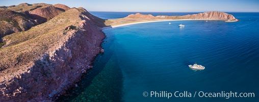 Isla San Francisquito, Aerial View, Sea of Cortez