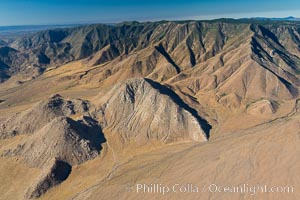 Jacumba Mountains and In-Ko-Pah Mountains, east of San Diego, showing erosion as the mountain ranges ends and meets desert habitat