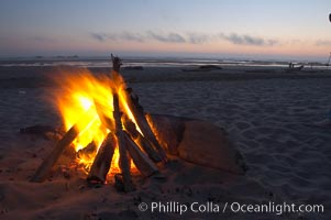 Evening beach fire, Kalaloch, Olympic National Park, Washington