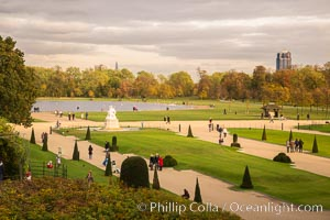 Kensington Park viewed from Kensington Palace, London, United Kingdom