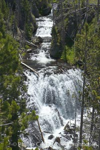 Kepler Cascades, a 120 foot drop in the Firehole River, near Old Faithful, Yellowstone National Park, Wyoming