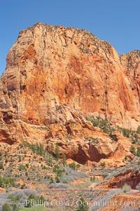 Kolob Canyon. Zion National Park, Utah, USA, natural history stock photograph, photo id 12484