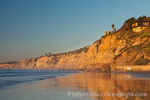 La Jolla Coastline, including Black's Beach, Torrey Pines State Reserve, sunset, Scripps Institution of Oceanography