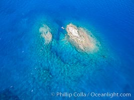 La Reina Lighthouse Reef, Sea of Cortez, aerial photo