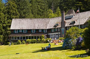 Lake Quinalt Lodge. Lake Quinalt, Olympic National Park, Washington, USA, natural history stock photograph, photo id 13800