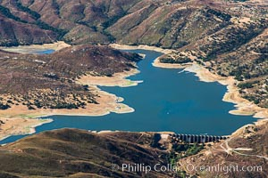 Lake Sutherland, in San Diego east county, viewed from the northeast