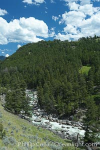 The Lamar River, Lamar Valley, Yellowstone National Park, Wyoming