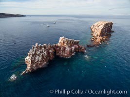 Los Islotes, aerial photo, Sea of Cortez
