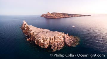 Los Islotes and Isla Partida, the northern part of Archipelago Espiritu Santo, Sea of Cortez, Aerial Photo