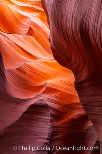 Lower Antelope Canyon, a deep, narrow and spectacular slot canyon lying on Navajo Tribal lands near Page, Arizona, Navajo Tribal Lands