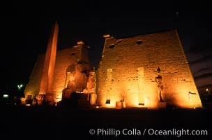 Luxor Temple. Luxor, Egypt, natural history stock photograph, photo id 02583