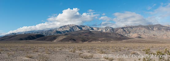 Maturango Peak and Parkinson Peak, and Parrot Point, near Panamint Springs, Death Valley, Death Valley National Park, California