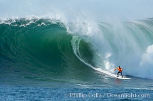 Brock Little, final round, Mavericks surf contest (third place), February 7, 2006, Half Moon Bay, California