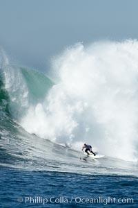 Evan Slater, Mavericks surf contest (fifth place), February 7, 2006, Half Moon Bay, California