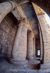 Temple of Medinet Habu. Luxor, Egypt, natural history stock photograph, photo id 02589