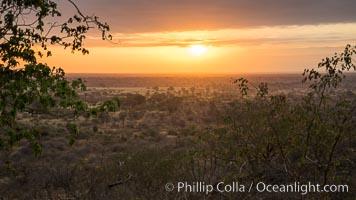 Meru National Park sunrise landscape