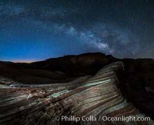 Milky Way galaxy rises above the Fire Wave, Valley of Fire State Park