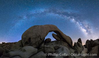 Milky Way at Night over Arch Rock, Joshua Tree National Park