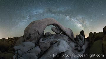 Milky Way over Arch Rock, Joshua Tree National Park