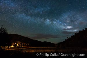 Milky Way over Doane Pond, Mount Palomar, Palomar Mountain, California