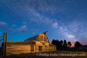 Milky Way over John Moulton Barn, Grand Teton National Park