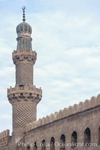 Minaret, Mosque of Al Nasr. Cairo, Egypt, natural history stock photograph, photo id 02604