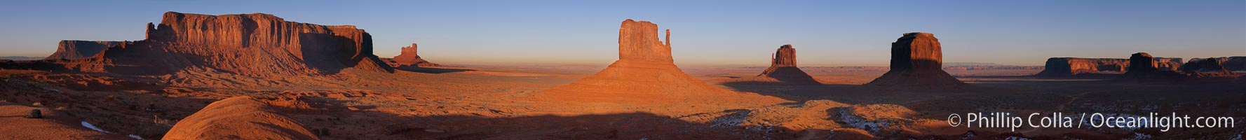 Monument Valley panorama. Monument Valley, Arizona, USA, natural history stock photograph, photo id 19531