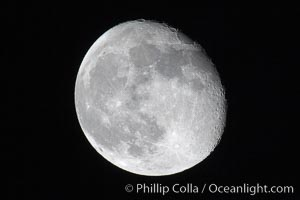 The Moon. Earth Orbit, Solar System, Milky Way Galaxy, The Universe, natural history stock photograph, photo id 17474