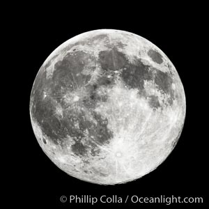 The Moon.  Full Moon. Earth Orbit, Solar System, Milky Way Galaxy, The Universe, natural history stock photograph, photo id 26047