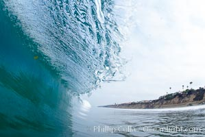 Breaking wave. Moonlight Beach, Encinitas, California, USA, natural history stock photograph, photo id 19132