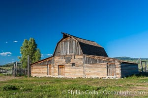 Old barn along Mormon Row, Grand Teton National Park, Wyoming