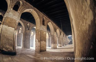 Arches, Mosque of Ibn Tulun. Cairo, Egypt, natural history stock photograph, photo id 02605