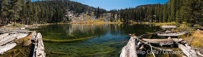 Panorama of Mosquito Lake, Mineral King, Sequoia National Park, California. Mineral King, Sequoia National Park, California, USA, natural history stock photograph, photo id 32264