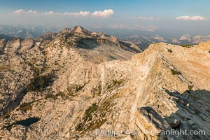 View from Summit of Mount Hoffmann, Ten Lakes Basin at lower left, looking northeast toward remote northern reaches of Yosemite National Park. Mount Hoffmann, Yosemite National Park, California, USA, natural history stock photograph, photo id 31193