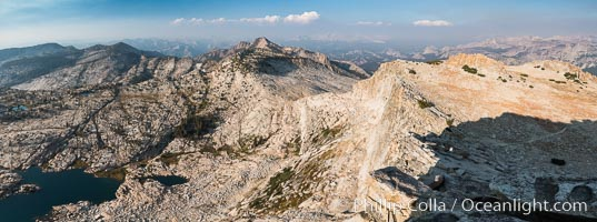 View from Summit of Mount Hoffmann, Ten Lakes Basin at lower left, looking northeast toward remote northern reaches of Yosemite National Park, panorama. Mount Hoffmann, Yosemite National Park, California, USA, natural history stock photograph, photo id 31194