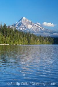 Mount Hood rises above Lost Lake, Mt. Hood National Forest, Oregon
