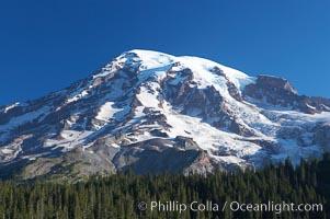 Mount Rainier, southern exposure viewed from Ricksecker Point, Mount Rainier National Park, Washington