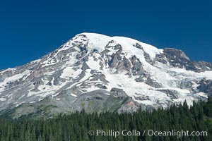 Mount Rainier, southern exposure viewed from Ricksecker Point, Mount Rainier National Park, Washington