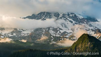 Mount Rainier sunset, viewed from Ricksecker Point, Mount Rainier National Park, Washington