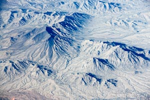 Mountains in southern Arizona, aerial view