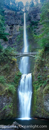 Multnomah Falls.  Plummeting 620 feet from its origins on Larch Mountain, Multnomah Falls is the second highest year-round waterfall in the United States.  Nearly two million visitors a year come to see this ancient waterfall making it Oregon&#39;s number one public destination, Columbia River Gorge National Scenic Area