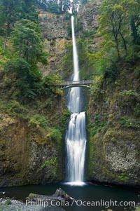 Multnomah Falls.  Plummeting 620 feet from its origins on Larch Mountain, Multnomah Falls is the second highest year-round waterfall in the United States.  Nearly two million visitors a year come to see this ancient waterfall making it Oregons number one public destination, Columbia River Gorge National Scenic Area