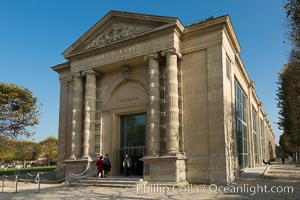 Musee de l'Orangerie, an art gallery of impressionist and post-impressionist paintings located in the west corner of the Tuileries Gardens next to the Place de la Concorde in Paris, Musee de lOrangerie
