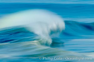 Breaking wave, fast motion and blur. The Wedge.,  Copyright Phillip Colla, image #14354, all rights reserved worldwide.