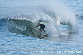 Kirk Blackman, September swell Newport Beach, California.,  Copyright Phillip Colla, image #14393, all rights reserved worldwide.