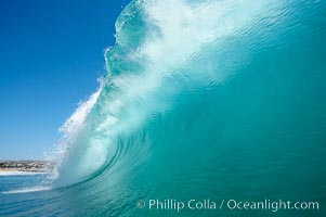 Wave breaking, tube, Newport Beach. Newport Beach, California, USA, natural history stock photograph, photo id 16802